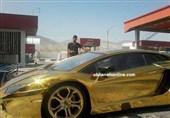 عکس/ لامبورگینی طلایی در ایران