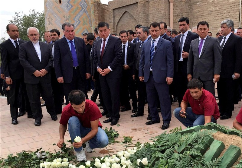 تصاویر حضور ظریف در مراسم تدفین رئیس جمهور ازبکستان
