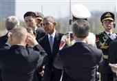 عکس/ حرکت عجیب تیم امنیتی اوباما