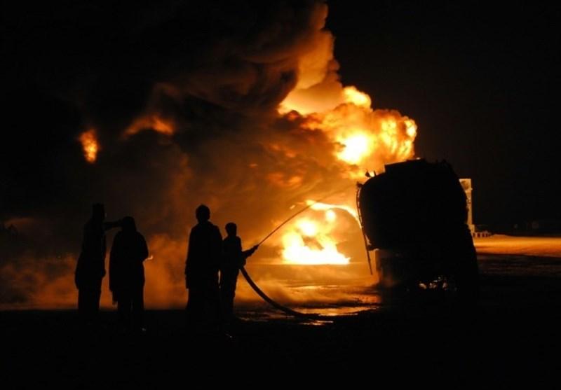 مرگ 36 مسافر اتوبوس در تصادف با تانکر سوخت+عکس