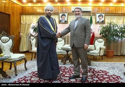 دیدار سید محمود فیصل البوسعیدی وزیر کشور عمان با دکتر عبدالرضا رحمانی فضلی