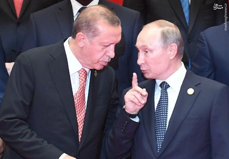 عکس/ تذکرات پوتین به اردوغان
