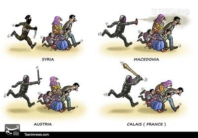 کاریکاتور/ سرنوشت مهاجران!!!