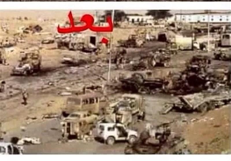 نابودی 100 تانک و خودروی زرهی عربستان در حمله موشکی ارتش یمن+عکس