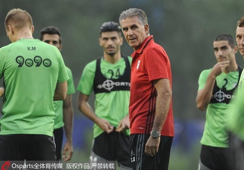 تمرین تیم ملی ایران در سایت چینی به روایت تصویر