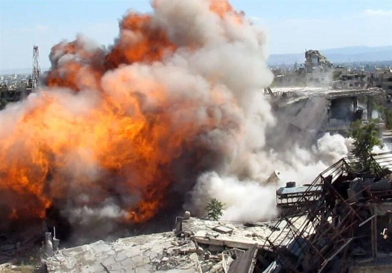 انفجار تونل تروریست ها در سوریه