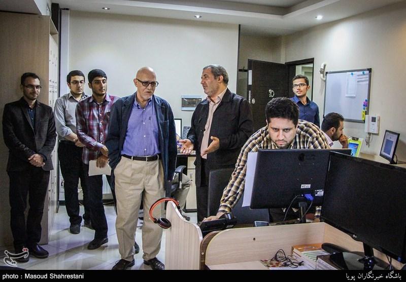 بازدید مهدی طالقانی از باشگاه خبرنگاران تسنیم (پویا)