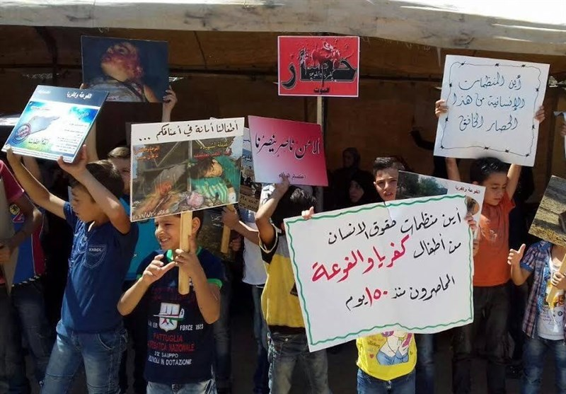 Syrian Protesters Urge Swift End to Siege of Kefraya, Foua (+Photos)