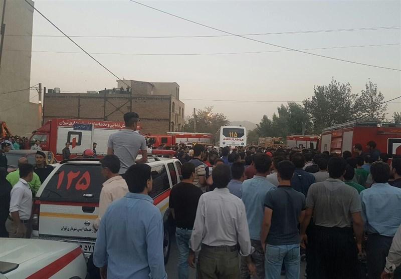 جسد 3 کارگر حادثه مترو کیانشهر به بیرون کشیده شد + تصاویر
