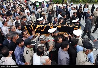 تشییع پیکر همسر سرلشکر صالحی فرمانده کل ارتش - مشهد