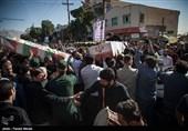 مراسم تشییع شهیدان مدافع حرم اکبر نظری و حسین علیخانی -کرمانشاه