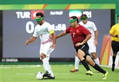 تساوی تیم فوتبال پنج نفره ایران مقابل ترکیه در گام نخست + تصاویر