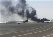 2 حمله هوایی عربستان به فرودگاه محاصره شده «صنعاء»
