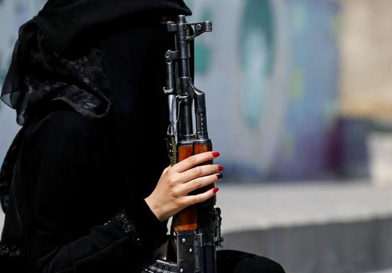 زنان مسلح حوثی