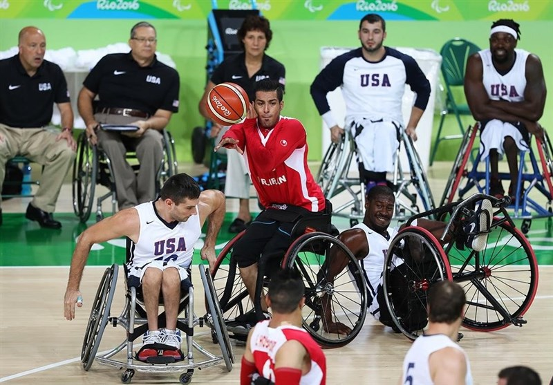 Iran Wheelchair Basketball Loses to USA at Rio Paralympics