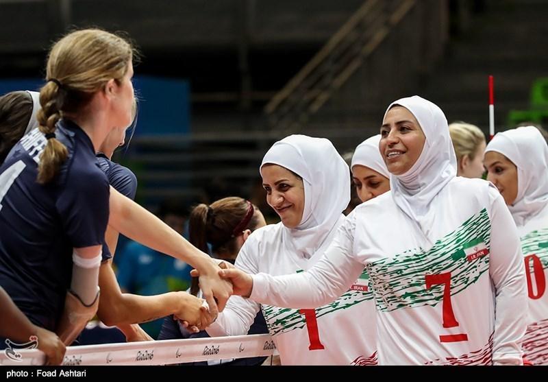 مسابقه والیبال نشسته بانوان ایران و آمریکا