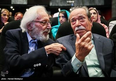 علی نصیریان و جمشید مشایخی در آئین نکوداشتهای هجدهمین جشن سینمای ایران