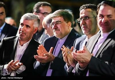 حجتالله ایوبی رئیس سازمان سینمایی و علی جنتی وزیر فرهنگ و ارشاد اسلامی در جشن روز ملی سینما