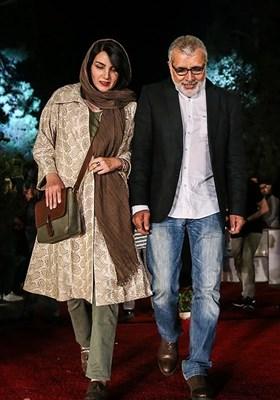 ورود بهروز افخمی و همسرش مرجان شیرمحمدی به جشن روز ملی سینما