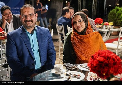 نرگس آبیار و همسرش محمدحسین قاسمی در جشن روز ملی سینما