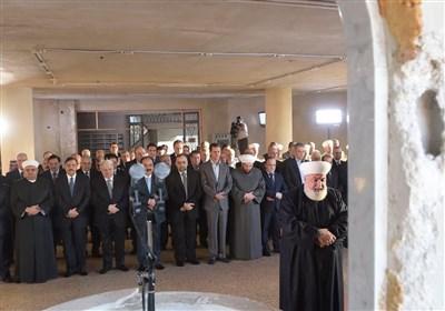 وصول الرئیس الأسد لمدینة داریا لأداء صلاة العید