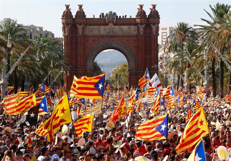 تظاهرات حامیان استقلال کاتالونیا در منطقه باسک