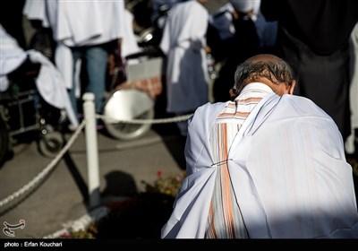 مراسم نمادین حج سالمندان آسایشگاه کهریزک