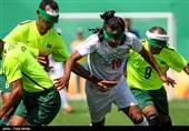 دیدار تیمهای فوتبال پنج نفره ایران و برزیل - پارالمپیک ریو