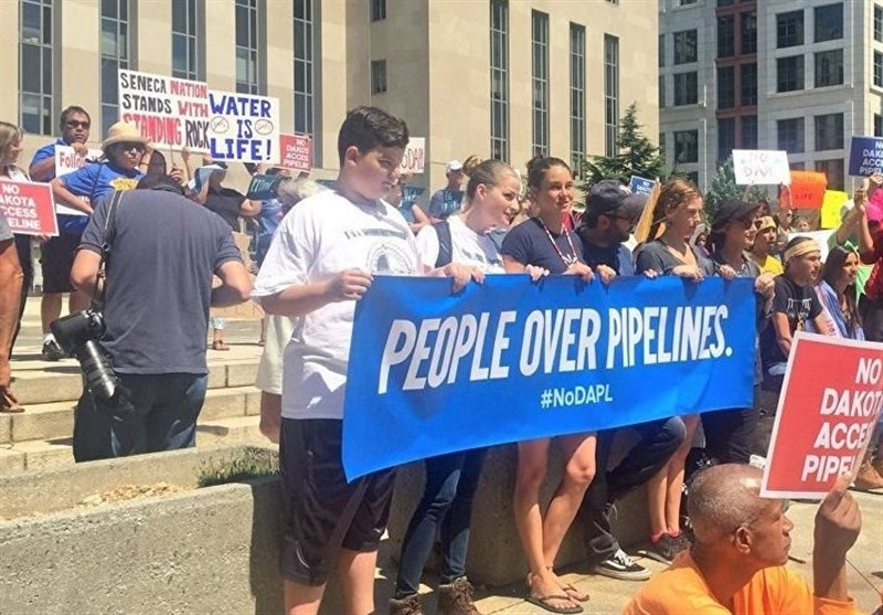 Rally Held in Washington against Construction of Dakota Access Pipeline