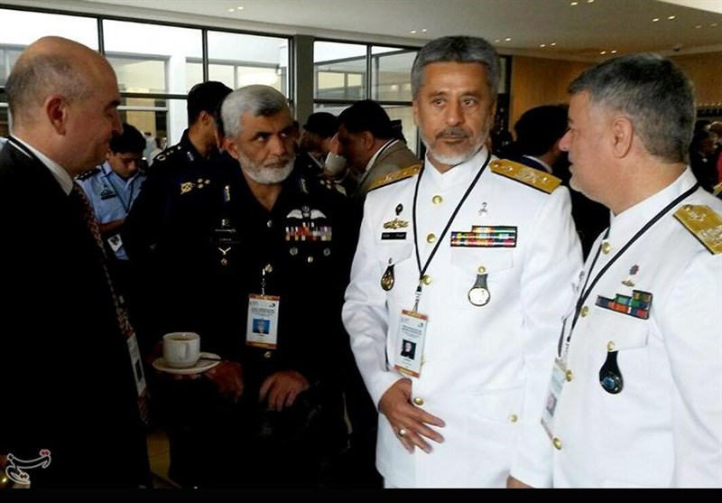 ایرانی ایڈمرل سیاری کی ایئرمارشل فاروق حبیب سے ملاقات/ تصویری رپورٹ