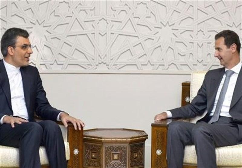 دیدار جابری انصاری با بشار اسد