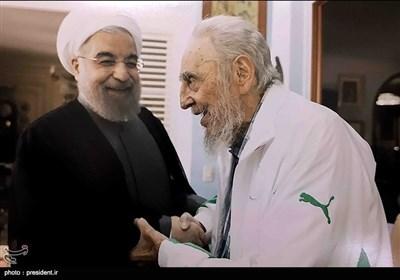 """لقاء الرئیس حسن روحانی مع قائد الثورة الکوبیة """"فیدل کاسترو"""""""