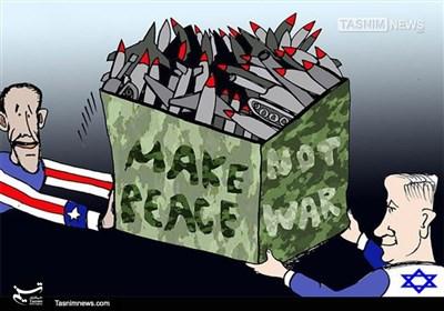 کاریکاتور/ کمک نظامی 38 میلیاردی آمریکا به اسرائیل
