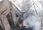 آتش سوزی کارگاه مبل