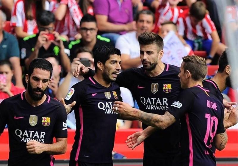 بارسلونا بدون مسی هم خیخون را درهم کوبید