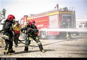 مانور آتش نشانی و ایمنی - مشهد