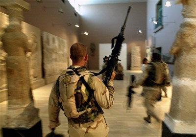 سرباز آمریکایی- موزه ملی عراق