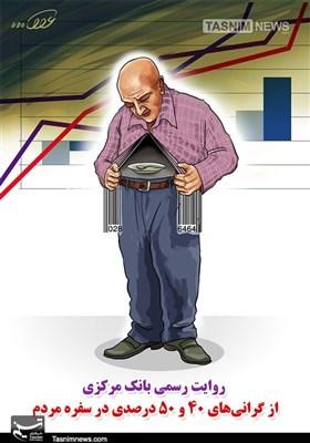 کاریکاتور/ روایت رسمی بانک مرکزی از گرانیها