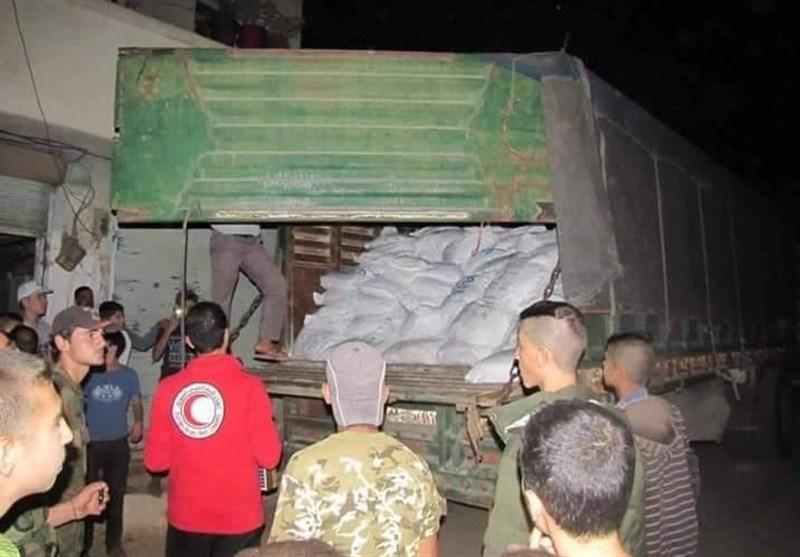 امدادی کاروان الفوعه، کفریا، مضایا اور الزبدانی پہنچ گیا/ تصویری رپورٹ