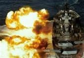 یک کشتی جنگی در حال شلیک گلوله 1
