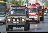 استقرار 90 آتشنشان با 31 دستگاه خودرو در مسیر تشییع پیکر شهید حججی