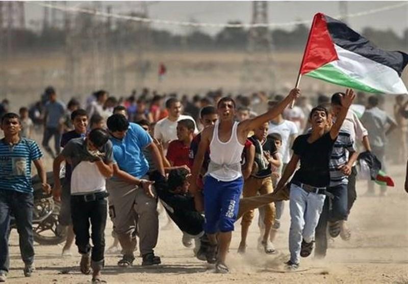 Siyonist Askerler Gazze Şeridinin Doğusundaki Protestoculara Saldırdı