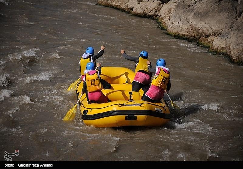 مسابقات رفتینگ در رودخانه هراز