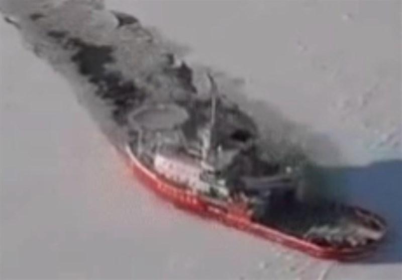 فیلم / چگونگی کار کشتی های غول آسای یخ شکن !
