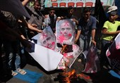 غزه آتش زدن عکس پرز