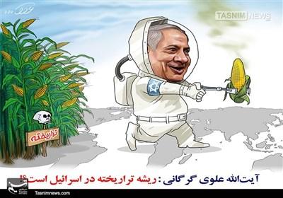 کاریکاتور/ ریشه تراریخته در اسرائیل