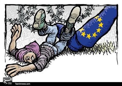 کاریکاتور/ ممانعت اروپا از ورود مهاجرین!