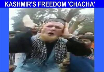 """کشمیر کی آزادی کے لئے """"چچا آزادی"""" کے پر جوش نعرے"""