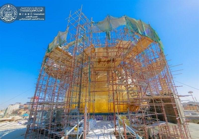 قبة مرقد الامام علی (ع) ستفتتح فی مولد الرسول (ص) + صور