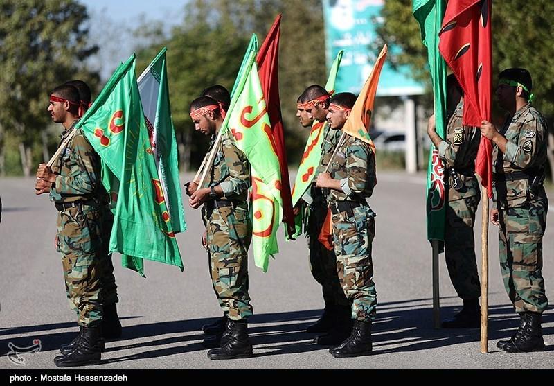 صبحگاه مشترک نیروهای مسلح در کاشان برگزار شد+تصاویر